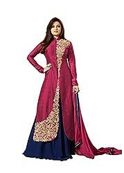 Sohali Maroon Braaanded Georgette Embroidery Dress