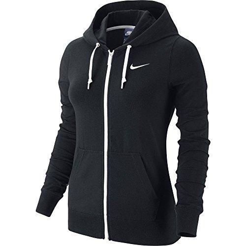 nike-veste-jersey-a-capuche-et-fermeture-eclair-integrale-pour-femme-m-noir-noir-blanc