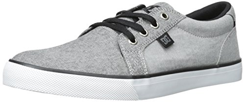 DC Men's Council TX SE Skate Shoe, Grey/Charcoal, 11 D US