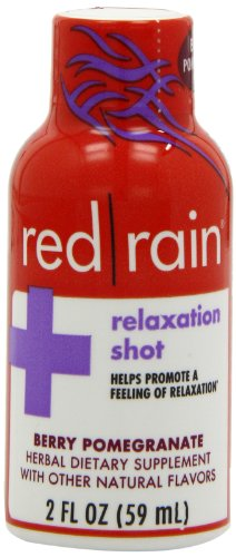 Red Rain Relaxation Energy Shot, Berry Pomegranate Flavor, 2-Ounce (Pack Of 12)