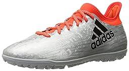 adidas Performance Men\'s X 16.3 TF Soccer Shoe, Silver Metallic/Black/Infrared, 9 M US