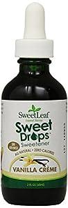 Sweet Leaf Sweet Drops Vanilla Creme Flavored Liquid Stevia, 2-Ounce Bottle