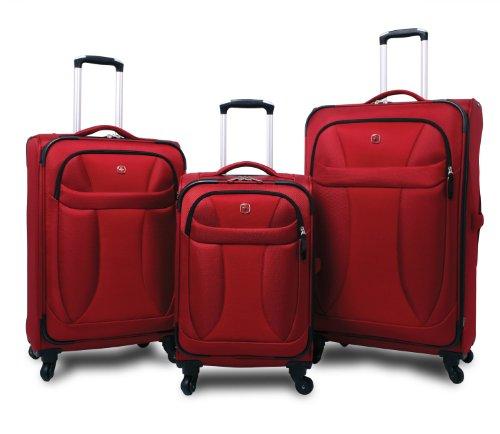 Trolley Koffer Set 3 tlg. - NEO LITE - Rot von