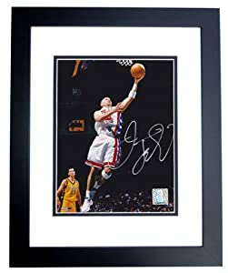 Jason Kidd Autographed Hand Signed New Jersey - Nets 8x10 Photo - BLACK CUSTOM FRAME by Real+Deal+Memorabilia