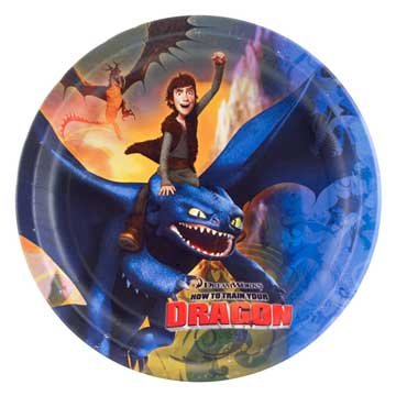 How To Train Your Dragon Party Dinner Plates