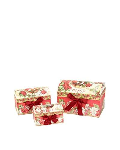 Decoracion Navideña Set Caja 3 Uds. Papá Noel