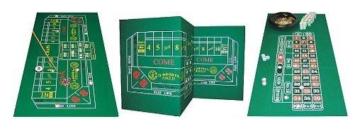 Craps & Roulette 2-Sided Casino Felt Layout (Felt Craps Table compare prices)