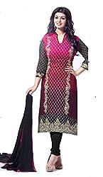 Om Creation pink Embroidered santoon Salwar Suit HS42