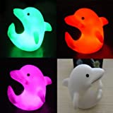 Color Changes Romatic Dolphin Christmas LED Night Light Lamp Party Decor Wedding SH-HG-226