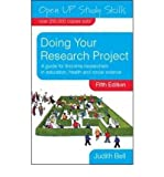 Judith Bell [ DOING YOUR RESEARCH PROJECT BY BELL, JUDITH](AUTHOR)PAPERBACK