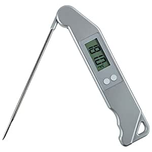 Amazon.com: ThermoStick Digital Folding BBQ Meat Thermometer - Silver