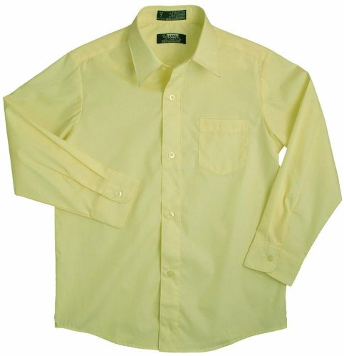 French Toast - Little Boys Long Sleeve Poplin Dress Shirt Style E9004, Yellow 34137-2T front-936785