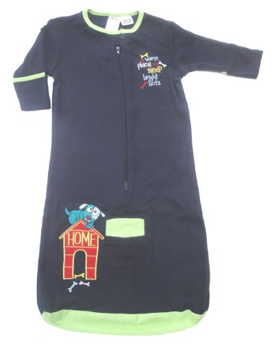 Bright Bots Baby Sleeping Bag in Soft Cotton Jersey - Navy size 12-18 months