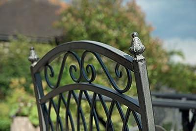 Garden Bench Folding Metal Garden Bench In Antique Grey Wash Finish