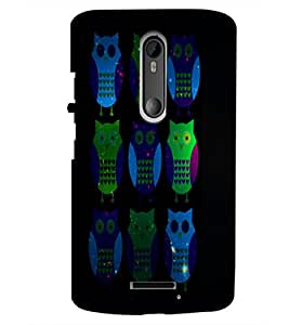 PrintDhaba Owls D-4869 Back Case Cover for MOTOROLA MOTO X3 (Multi-Coloured)