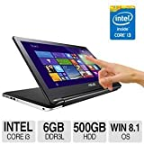 ASUS Flip 15.6-Inch 2-in-1 Convertible Touchscreen Laptop (Core i3, 500GB HDD, 6GB RAM)