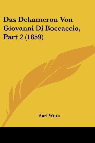 Das Dekameron Von Giovanni Di Boccaccio, Part 2 (1859)