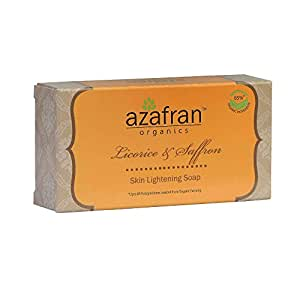 Azafran Organics Licorice & Saffron Skin Lightening Soap,100g