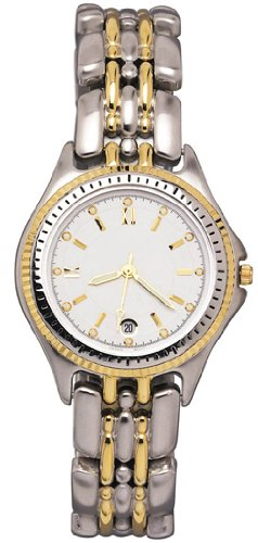 Men's Sport Two-Tone Water-Resistant Bracelet Date Watch # 0322TX