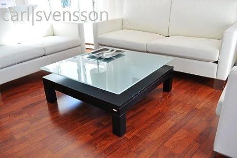 DESIGN COUCHTISCH V-570H schwarz Milchglas Carl Svensson NEU