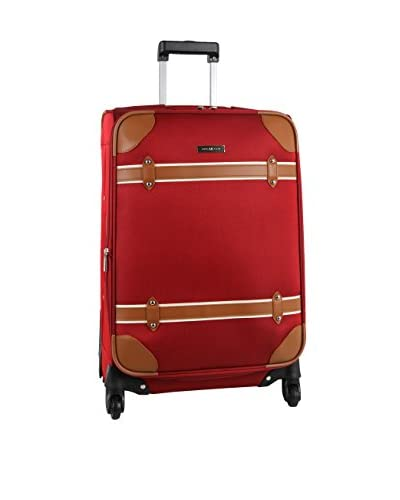 Anne Klein Luggage Vintage Edition 24 Inch Expandable Spinner, Red