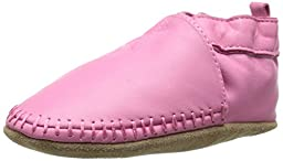 Robeez Classic Moccasin Crib Shoe (Infant), Pink, 12-18 Months M US Infant