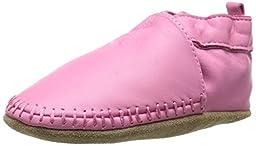 Robeez Classic Moccasin Crib Shoe (Infant), Pink, 0-6 Months M US Infant