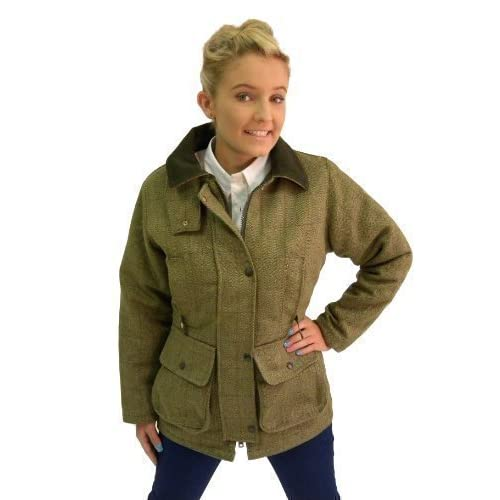 Campbell Cooper Ladies Original Classic Fitted Tweed Countrywear Fashion Jacket Green New
