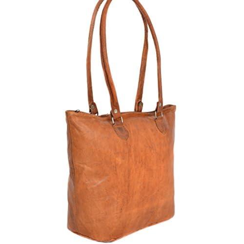 Gusti Leder nature Genuine Leather Shopping Handbag Tote Shoulder Bag Satchel Vintage Bag Leisure Bag Ladies Brown...