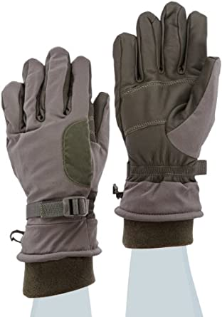 "Ansell ActivArmr 46-451 Goatskin Intermediate Cold Wet Combat and Utility Glove, Chemical Resistant, Fleece Wrist Cuff, 12"" Length, Small, Folliage Green (1 Pair)"