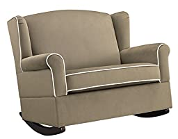 Baby Relax Lainey Wingback Super-Wide Nursery Rocker, Taupe