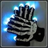 Souked Alta calidad Glow Fiesta de Halloween Guantes LED con Gemmy Skeleton