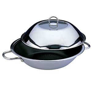 BergHOFF 12-1/2-Inch Non-Stick Stainless Steel Wok