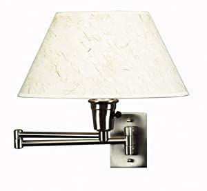 Wall Mounted Arm Lamp : Kenroy Home 30110BS Simplicity Wall-Mounted 150-Watt Swing-Arm Lamp, Brushed Steel - Wall ...