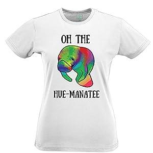 Oh the Hue-Manatee! Tshirt Womens Xsmall - XXLarge