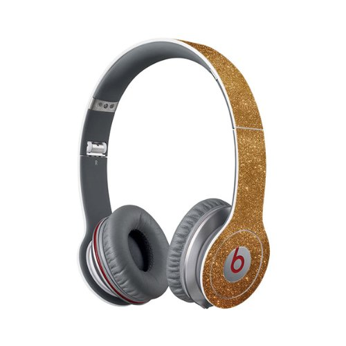 Beats Solo Full Headphone Wrap In Sparkling Gold (Headphones Not Included)