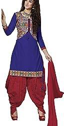 Meghali Women's Cotton Unstitched Salwar Suit (GS13_Multi-Coloured_Freesize)
