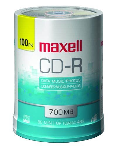 Maxell 100-Pack 700 MB 80 Min CDR 648200