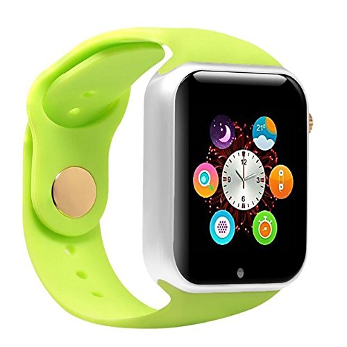 Mynike Smart Watch Bluetooth Fitness WristWatch Waterproof Smartwatch with Camera Pedometer Anti-lost Men Women Health Bracelet Watch for Apple iphone 6S IOS Samsung S7 Android Smartphone (Green) (Samsung Omega Lcd Screen compare prices)