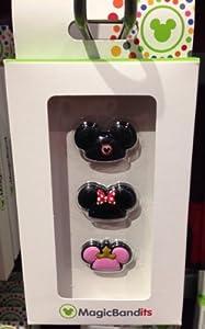 Disney Parks Mickey Mouse Hats Magic Band Bandits Set of 3 NEW Charms