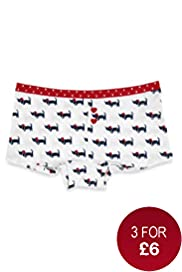 Pure Cotton Dog Print Boxers
