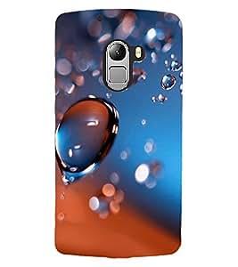 ColourCraft Water Drops Design Back Case Cover for LENOVO VIBE X3 LITE