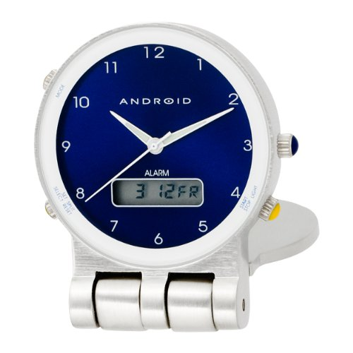 Android Traveler Blue Dial Alarm Clock