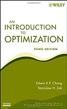 An Introduction to Optimization by Edwin K. P. Chong