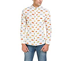 Color-Buckket Men's Casual Shirt_CB507_White_L