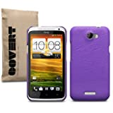 "HTC ONE X LEDER HARDSKIN H�LLE IN LILA, COVERT RETAIL VERPACKUNGvon ""COVERT"""