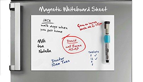 Lavagna magnetica con cancellino e pennarello magnetici m per frigorifero e cucina - Lavagna magnetica per cucina ...