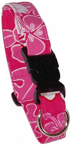 Beach Dog Panama Pet Collar, Large, Pink