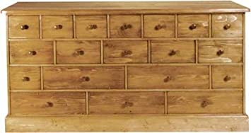 Wye Pine Merchant Chest 19 Drs - Finish: Wax - Stain: Waterbased