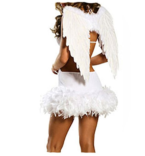 Women's Halloween Costumes White Angel Costume